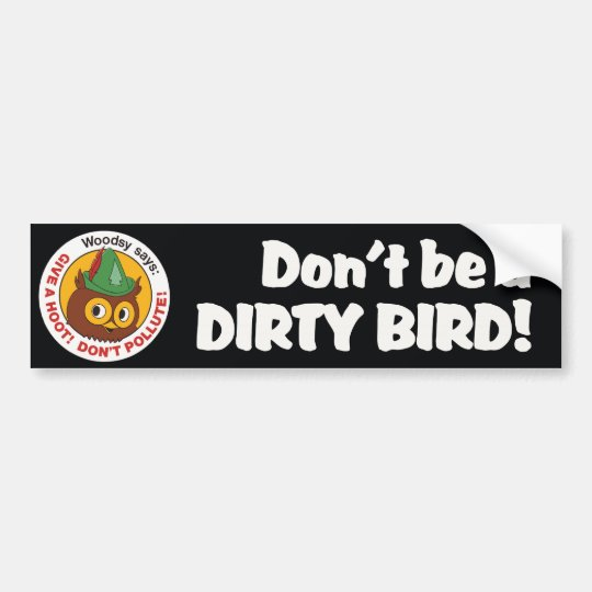 Vintage 1970s Woodsy Owl Bumper Sticker