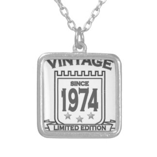Vintage 1974 birth day limited t shirt.png custom jewelry