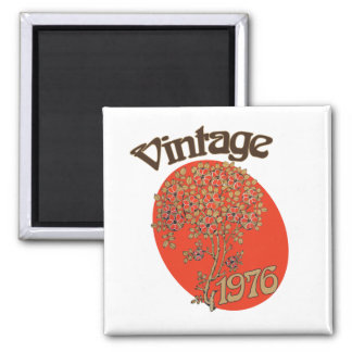 Vintage 1976 birthday party square magnet