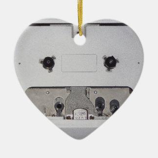 Vintage 1980s Cassette Player Ceramic Heart Decoration