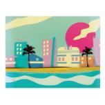 Vintage 1980s Miami Poster Postcards