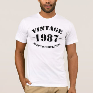 Vintage 1987 Birthday aged to perfection T-Shirt
