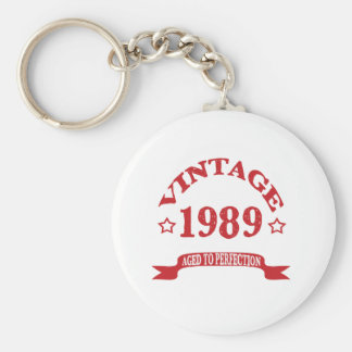 Vintage 1989 Aged to Paerfection Key Ring