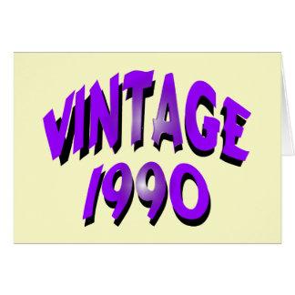 Vintage 1990 greeting card