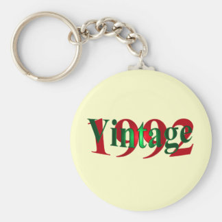 Vintage 1992 basic round button key ring