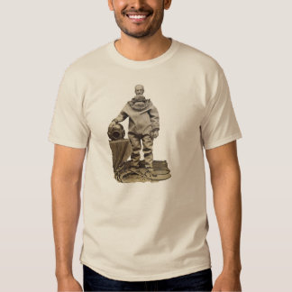 Vintage 19th Century Diver with Diving Helmet T Shirts
