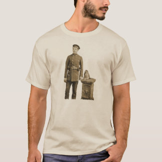 Vintage 19th Century Fireman with Fire Axes T-Shirt