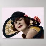 Vintage 20's Ladies Flapper Hats Art Print