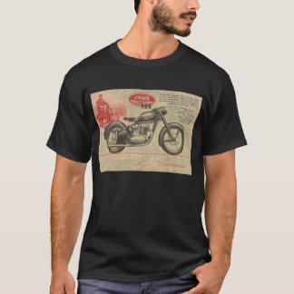 Vintage 30's Jawa Motorcycle Europe Ad T-Shirt