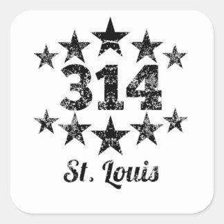 Vintage 314 St. Louis Square Sticker
