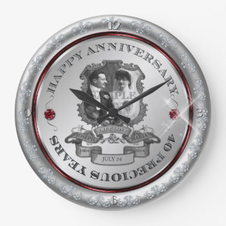 Vintage 40th Anniversary Wallclock