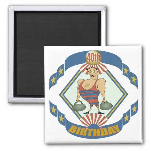 Vintage 40th Birthday Gifts Fridge Magnets