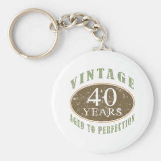 Vintage 40th Birthday Key Ring