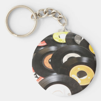 Vintage 45rpm Records Key Ring