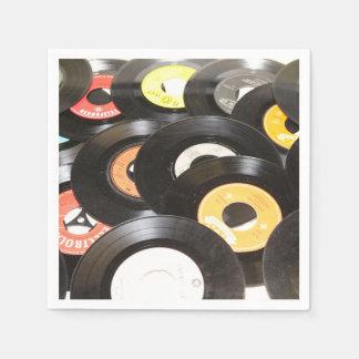 Vintage 45rpm Records Paper Napkin