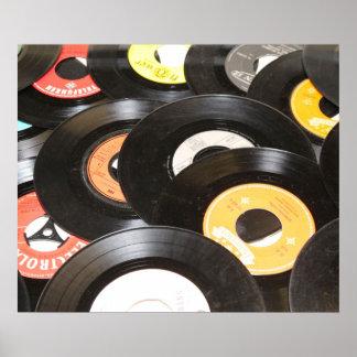 Vintage 45rpm Records Print