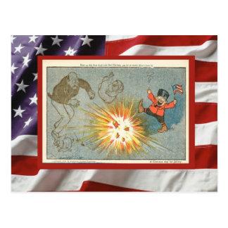 Vintage 4th July, Celebration, firecracker fun Postcard
