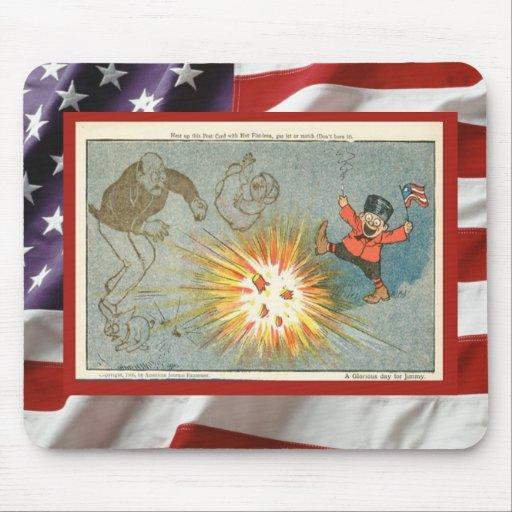 Vintage 4th July celebration, Firecrackers Mousepads