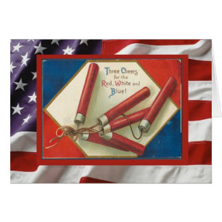 Vintage 4th July, Have a great day Greeting Card