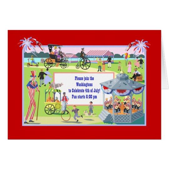 Vintage 4th of July Celebration Card