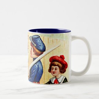 Vintage 4th of July Children with Flag Coffee Mug