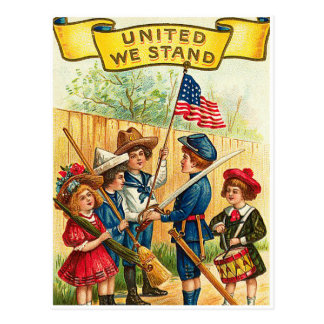 Vintage 4th of July Children with Flag Post Cards