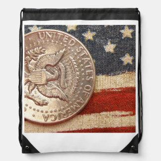 vintage 4th of july drawstring bag
