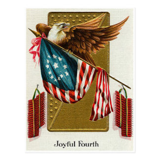 Vintage 4th of July Flag and Eagle Postcards