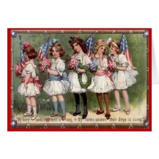 Vintage 4th of July Greeting Card