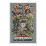 Vintage 4th Of July Liberty Bell Poster