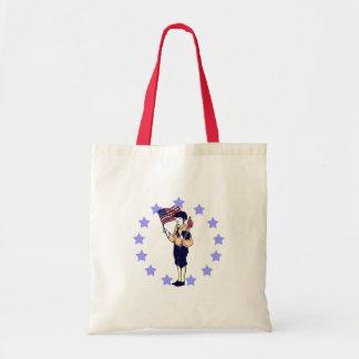 Vintage 4th of July Patriotic Art Budget Tote Bag