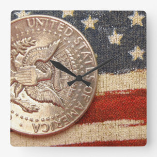 vintage 4th of july square wall clock