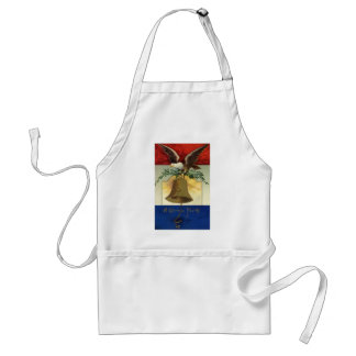 Vintage 4th of July with Eagle and Liberty Bell Apron