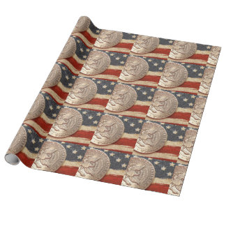 vintage 4th of july wrapping paper