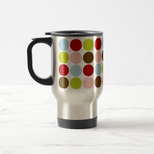 Vintage 50s Big Dots Designer Travel Mug Zazzle