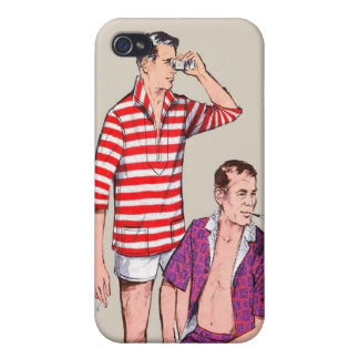 Vintage 50s Couple of Manly Men Midcentury iPhone 4/4S Cases