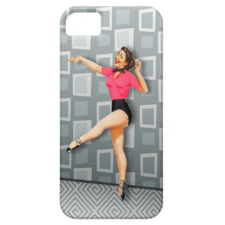 Vintage 50s Dancing Pinup Girl Barely There iPhone 5 Case