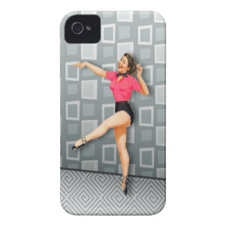 Vintage 50s Dancing Pinup Girl iPhone 4 Covers