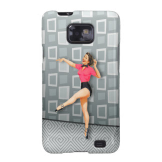 Vintage 50s Dancing Pinup Girl Galaxy S2 Case