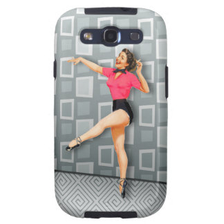 Vintage 50s Dancing Pinup Girl Galaxy SIII Cover