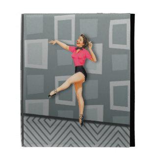 Vintage 50s Dancing Pinup Girl iPad Folio Covers