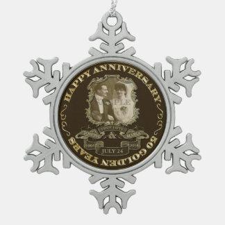 Vintage 50th Anniversary ID195 Pewter Snowflake Decoration