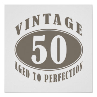 Vintage 50th Birthday Gifts Poster