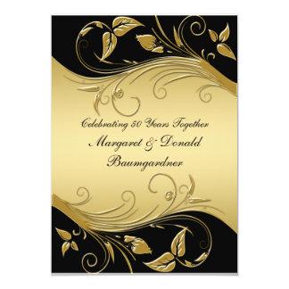 "Vintage 50th Wedding Anniversary Invitation 5"" X 7"" Invitation Card"