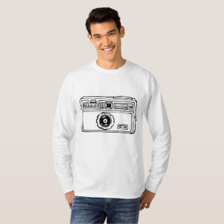 Vintage 60s 35mm Compact Camera Drawing T-Shirt