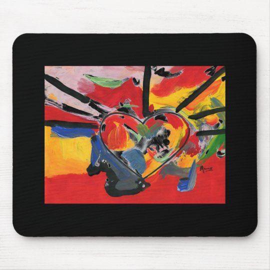 "Vintage 60s colourful heart"" mousepad"