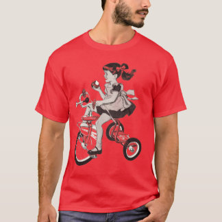 Vintage 60's Tricycle Illustration T-Shirt