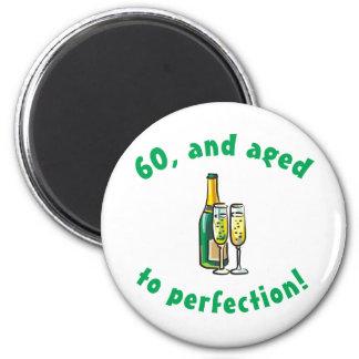 Vintage 60th Birthday Gift Magnet