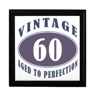 Vintage 60th Birthday Gifts For Men Large Square Gift Box