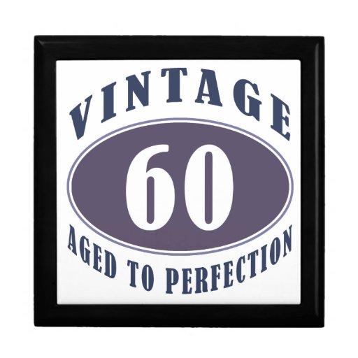 Vintage 60th Birthday Gifts For Men Trinket Box